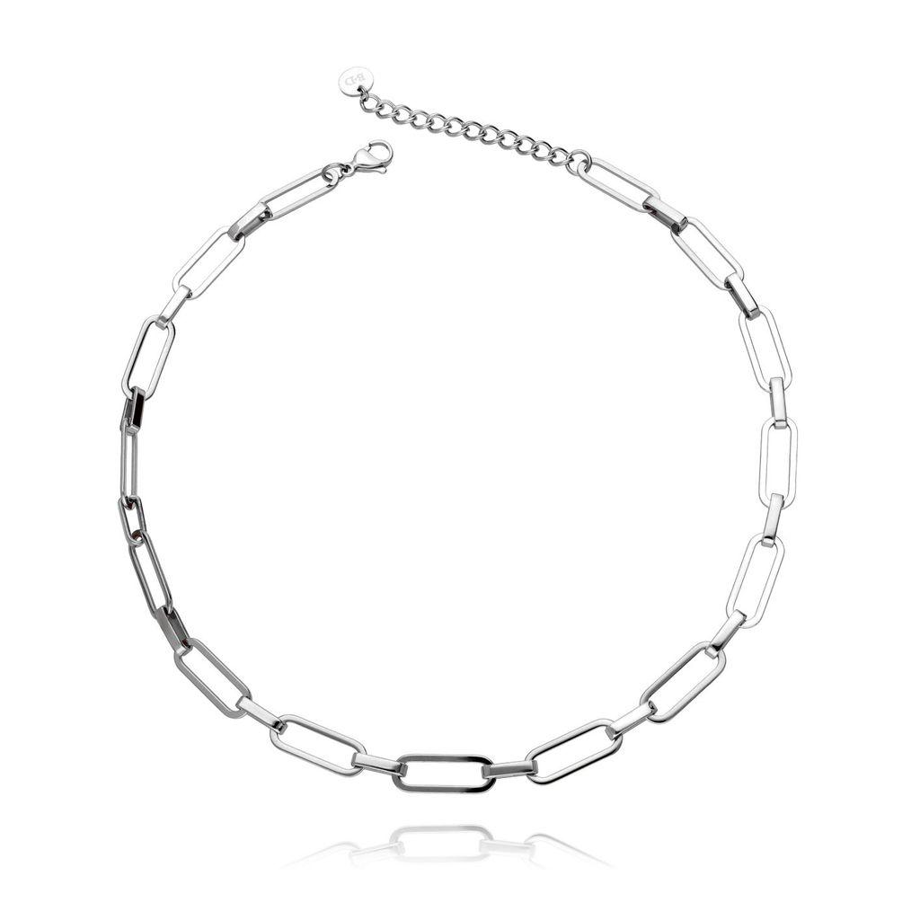 Naszyjnik srebrny łańcuch ze stali szlachetnej NSA0001