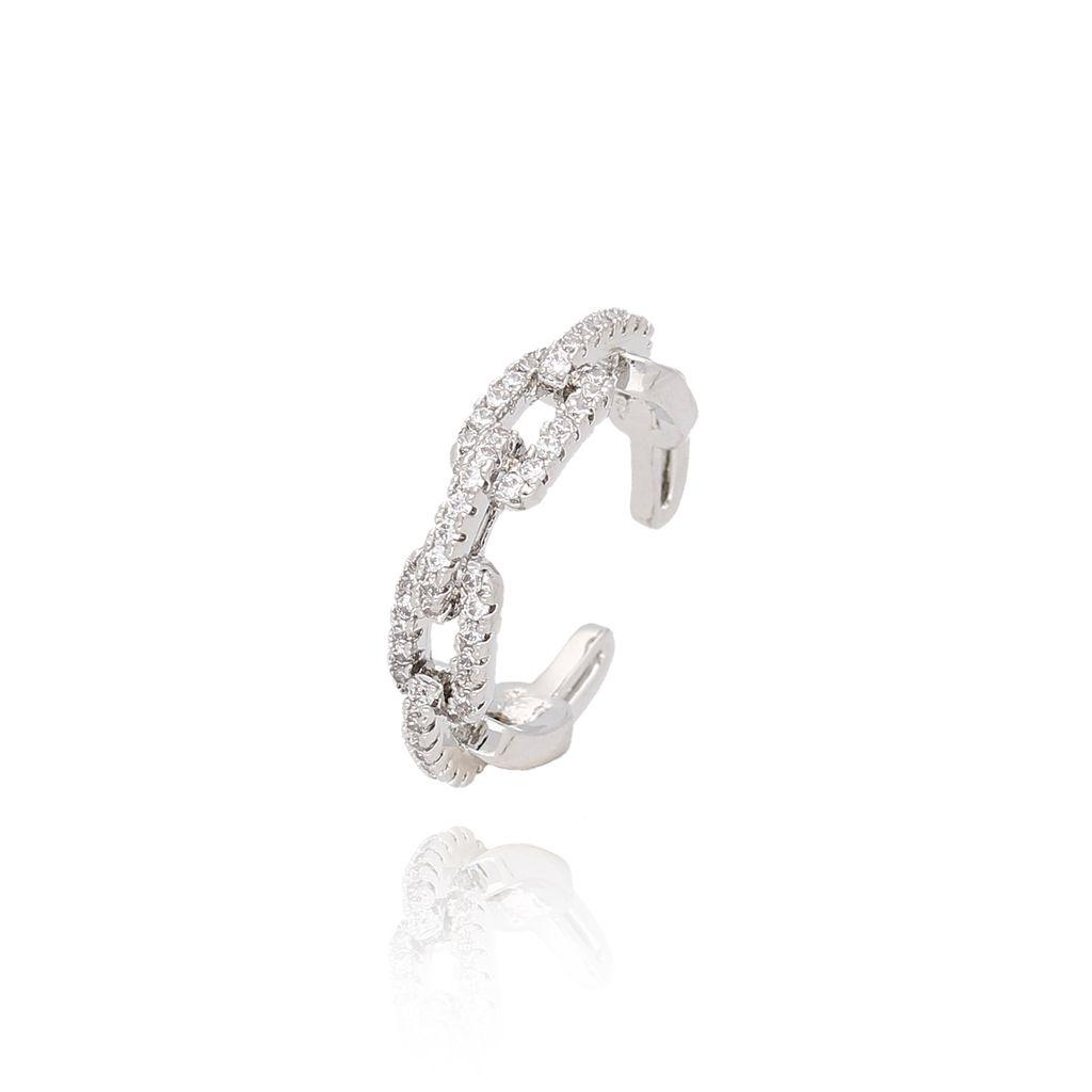 Pierścionek srebrny pleciony z kryształkami PCO0002 rozmiar14