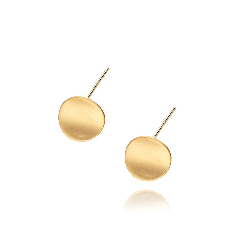 Kolczyki srebrne pozłacane szczotkowane KSE0061