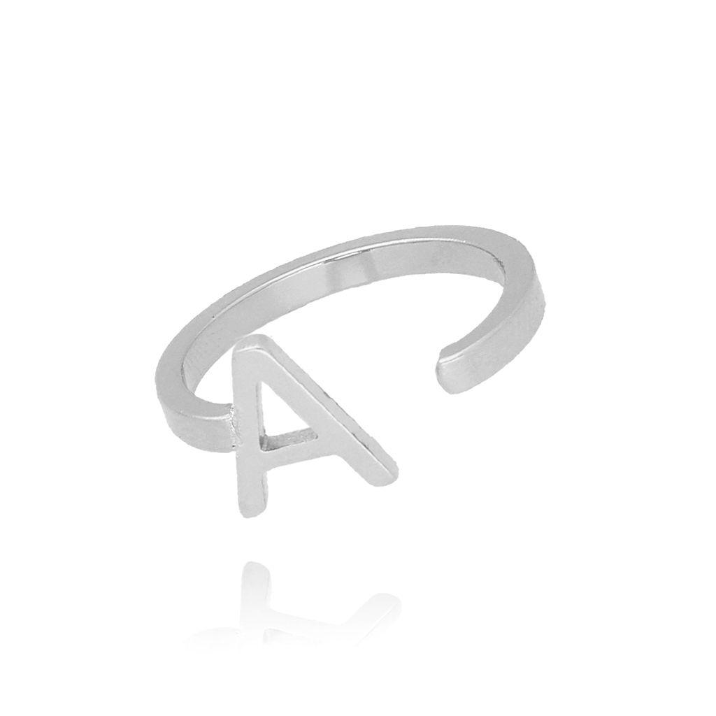 Pierścionek srebrny literka A PAT0001