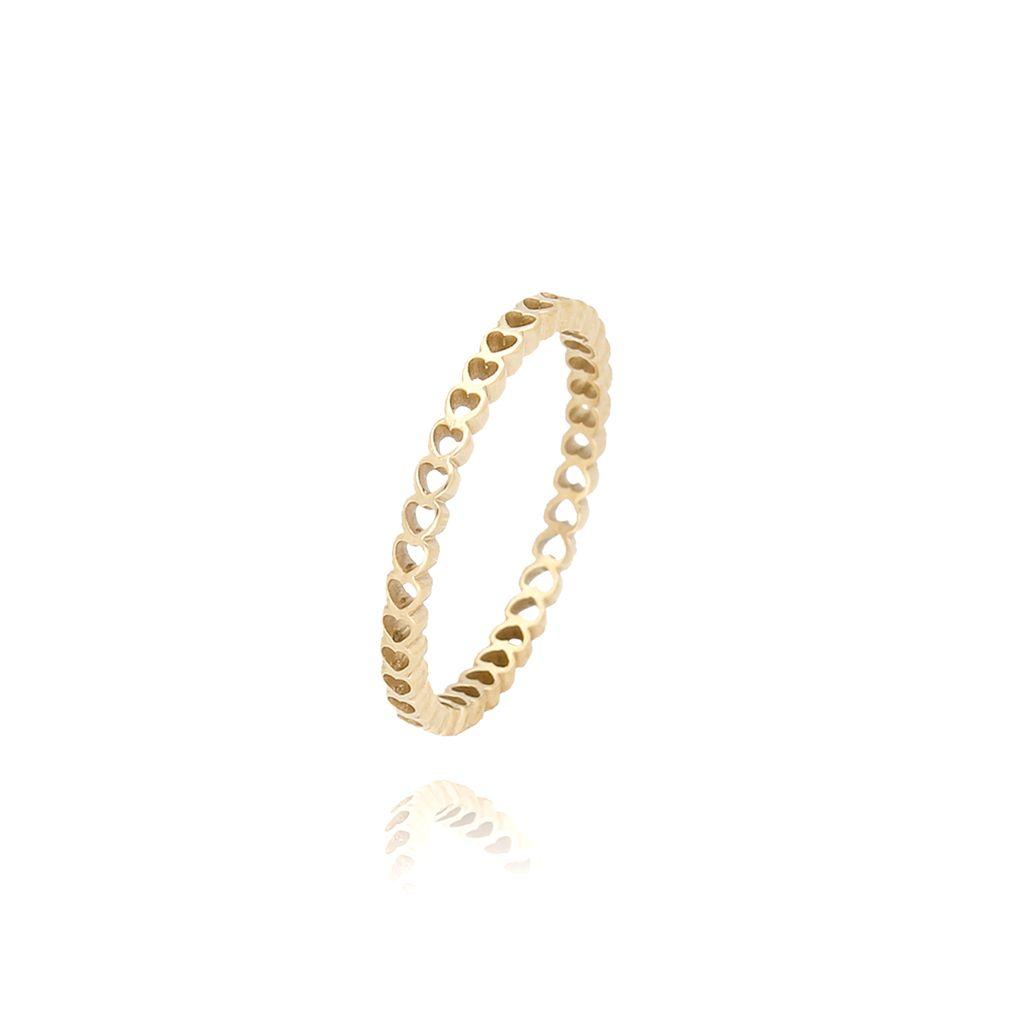 Pierścionek złoty ze stali szlachetnej PSA0033 Rozmiar 15