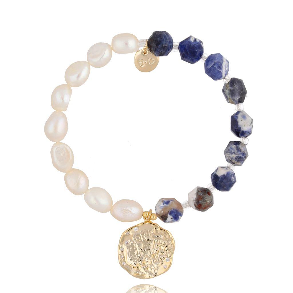 Bransoletka z perłami i kamieniami naturalnymi BPA0037