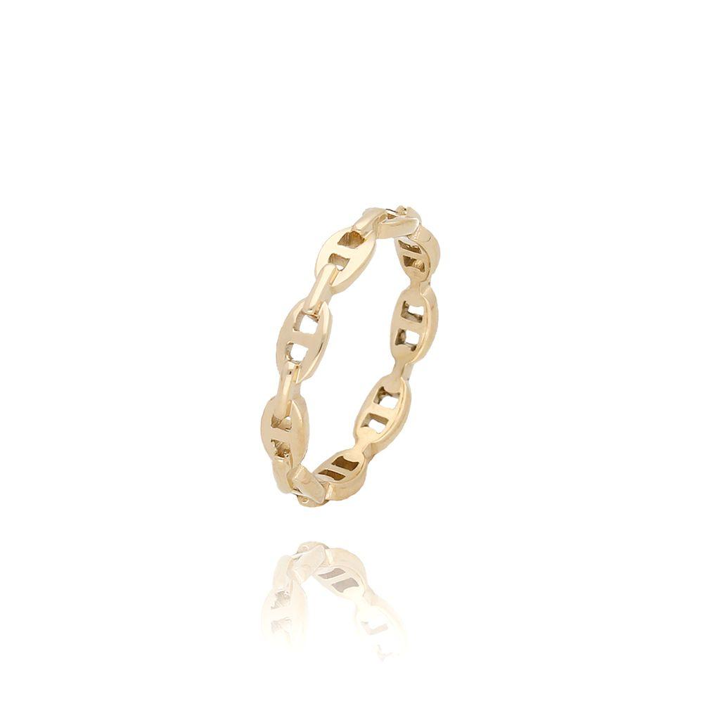 Pierścionek złoty ze stali szlachetnej PSA0021 Rozmiar 12