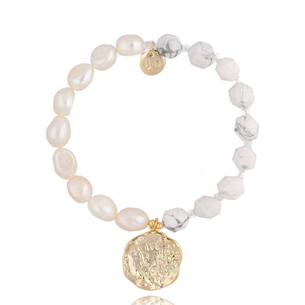 Bransoletka z perłami i kamieniami naturalnymi BPA0031