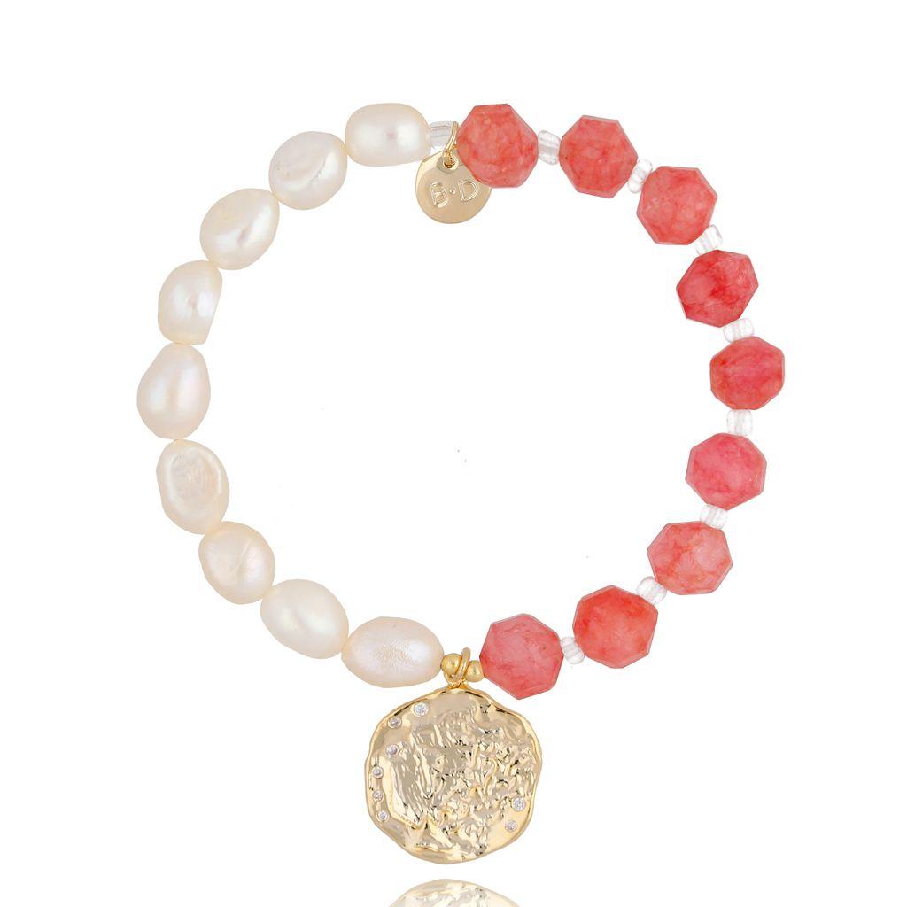 Bransoletka z perłami i kamieniami naturalnymi BPA0038