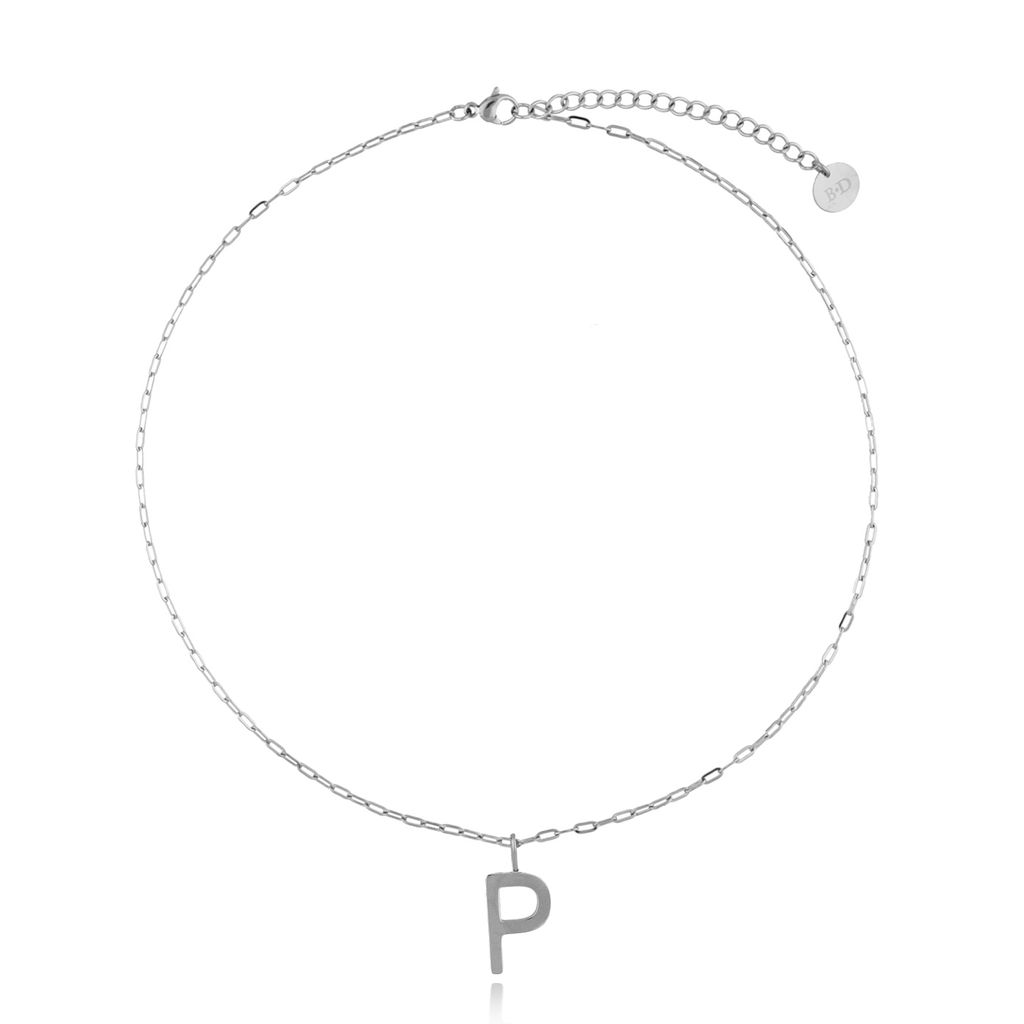Naszyjnik srebrny z literką P NAT0202