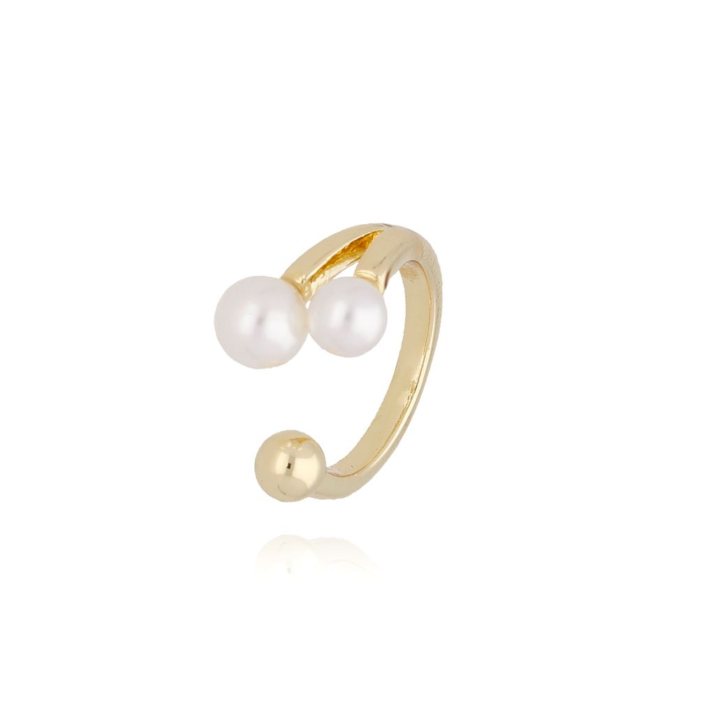Pierścionek złoty z perłami PPE0022 Rozmiar 11