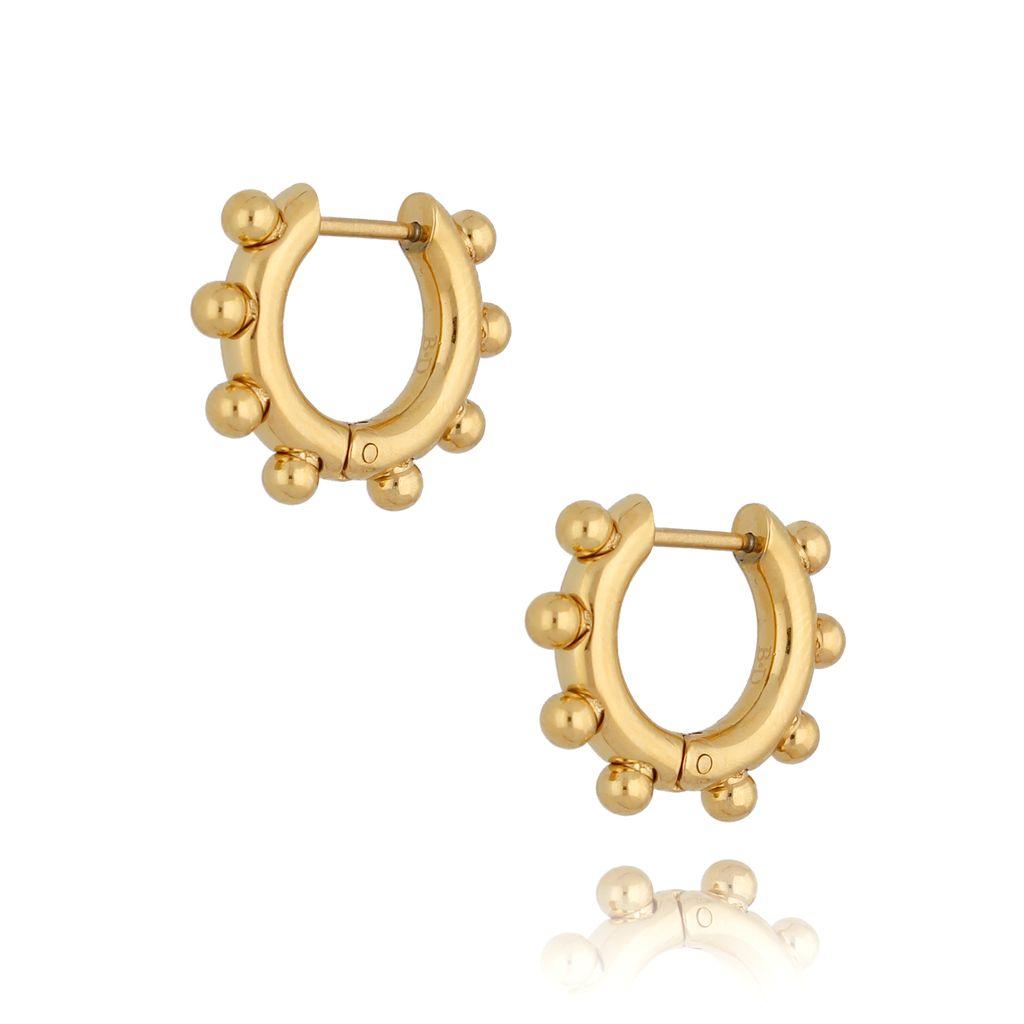 Kolczyki złote koła z kuleczkami KSA0171