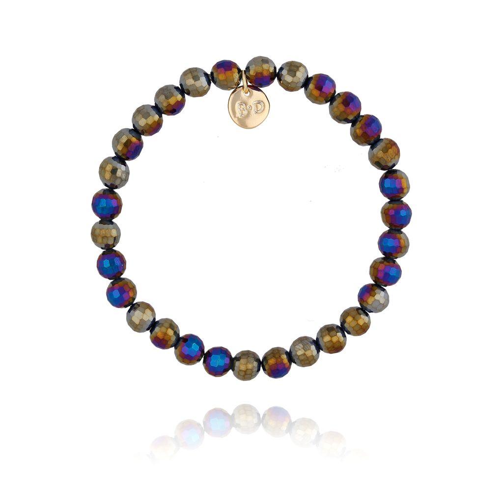 Bransoletka z fioletowo granatowymi kryształkami BBL0176