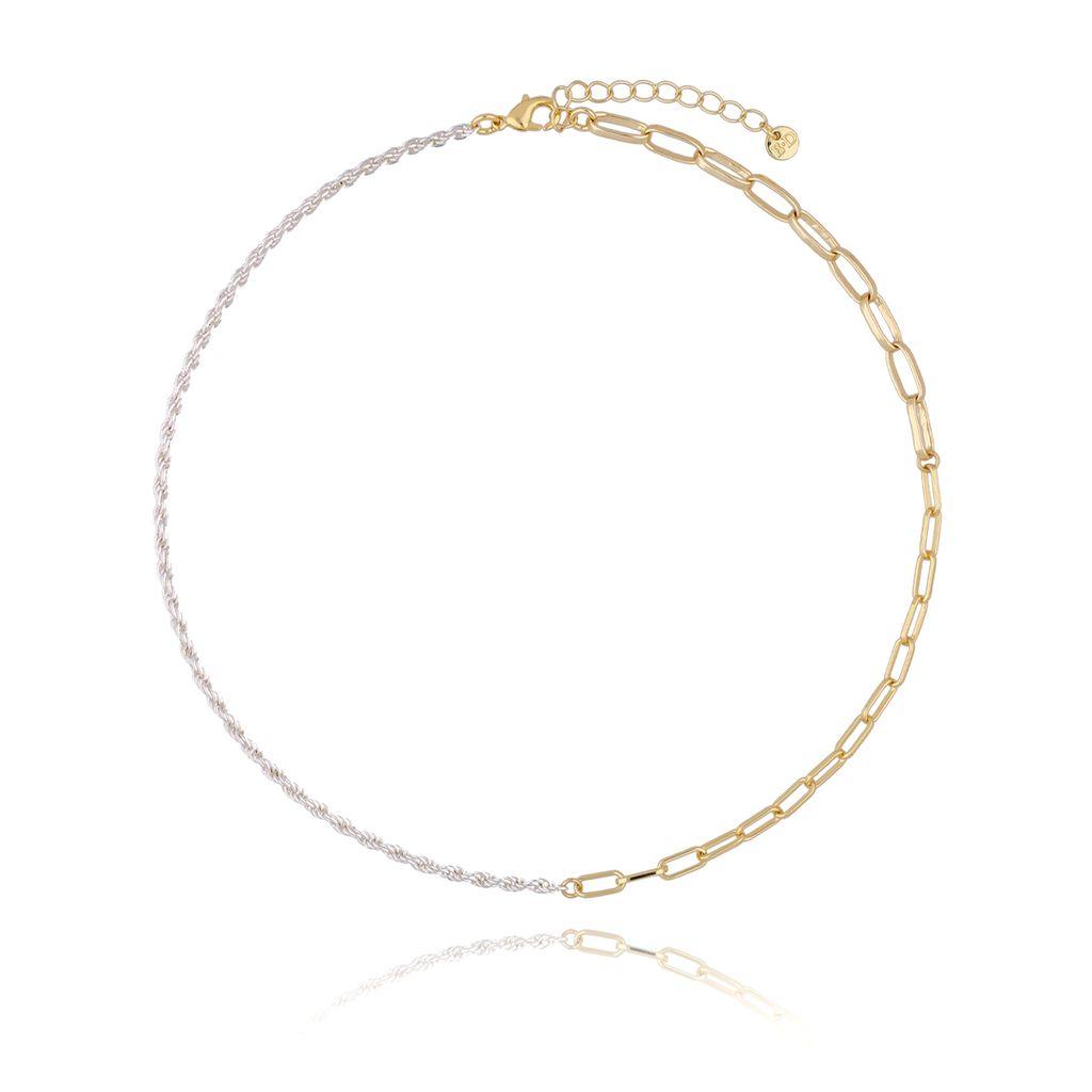 Naszyjnik złoto srebrny łańcuch NSL0026