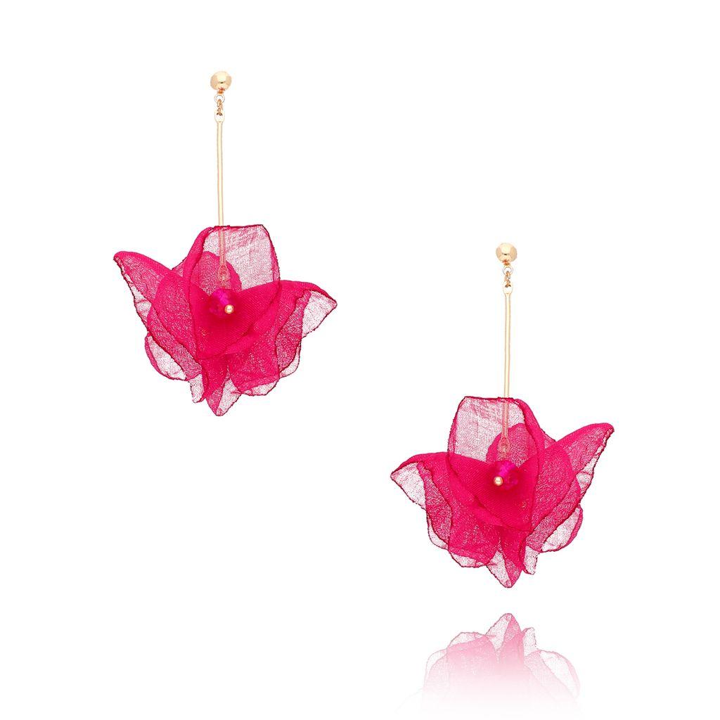 Kolczyki kwiaty Blossom fuksjowe KBL0280