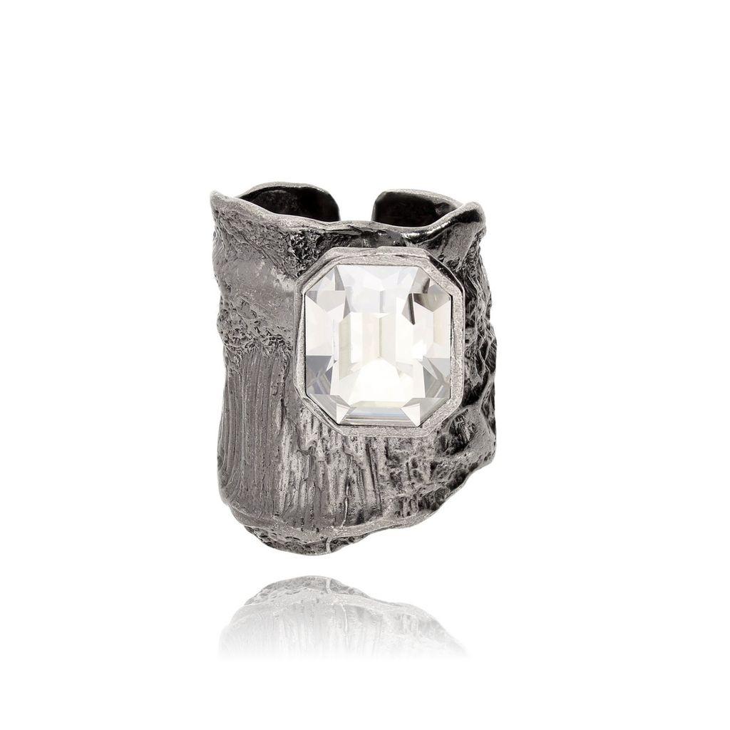 Pierścionek MOTYLE Selene srebrny z kryształem PMO0072