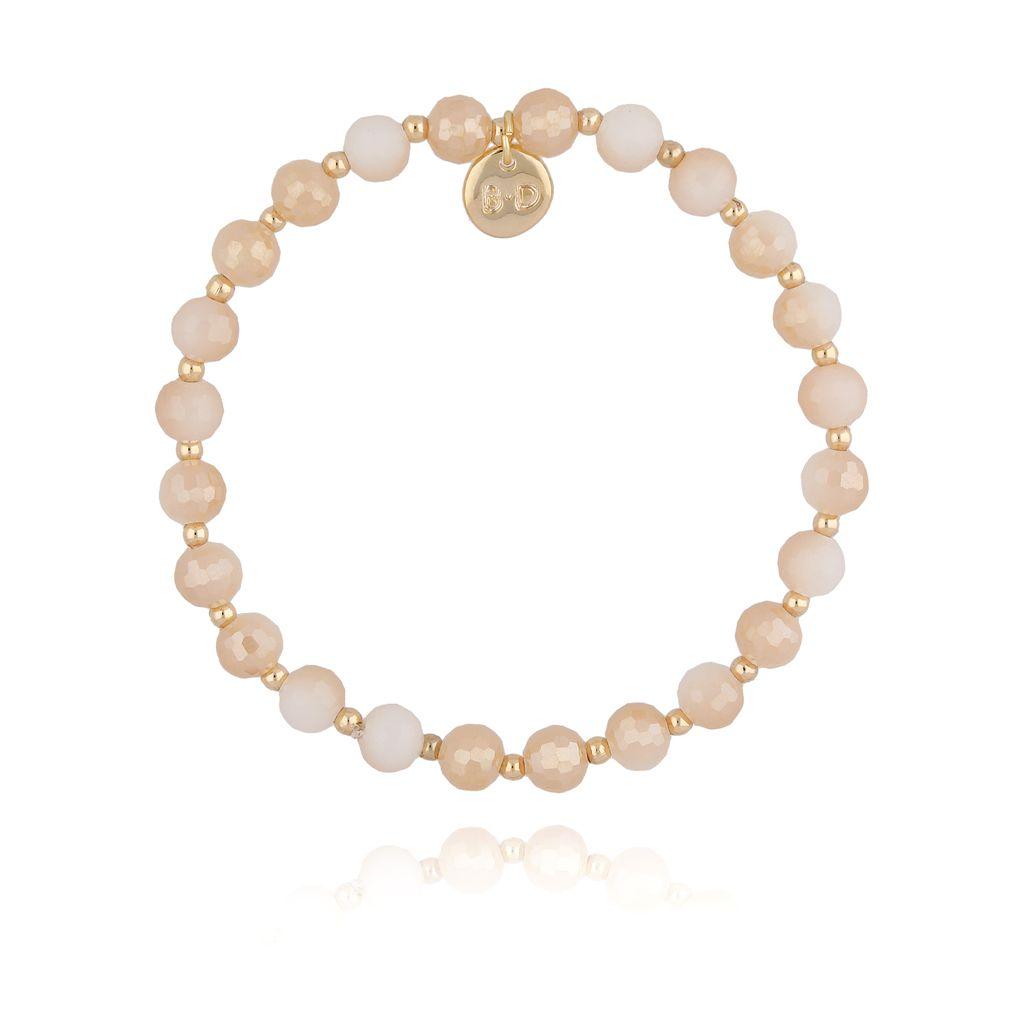 Bransoletka z beżowymi kryształkami BBL0174