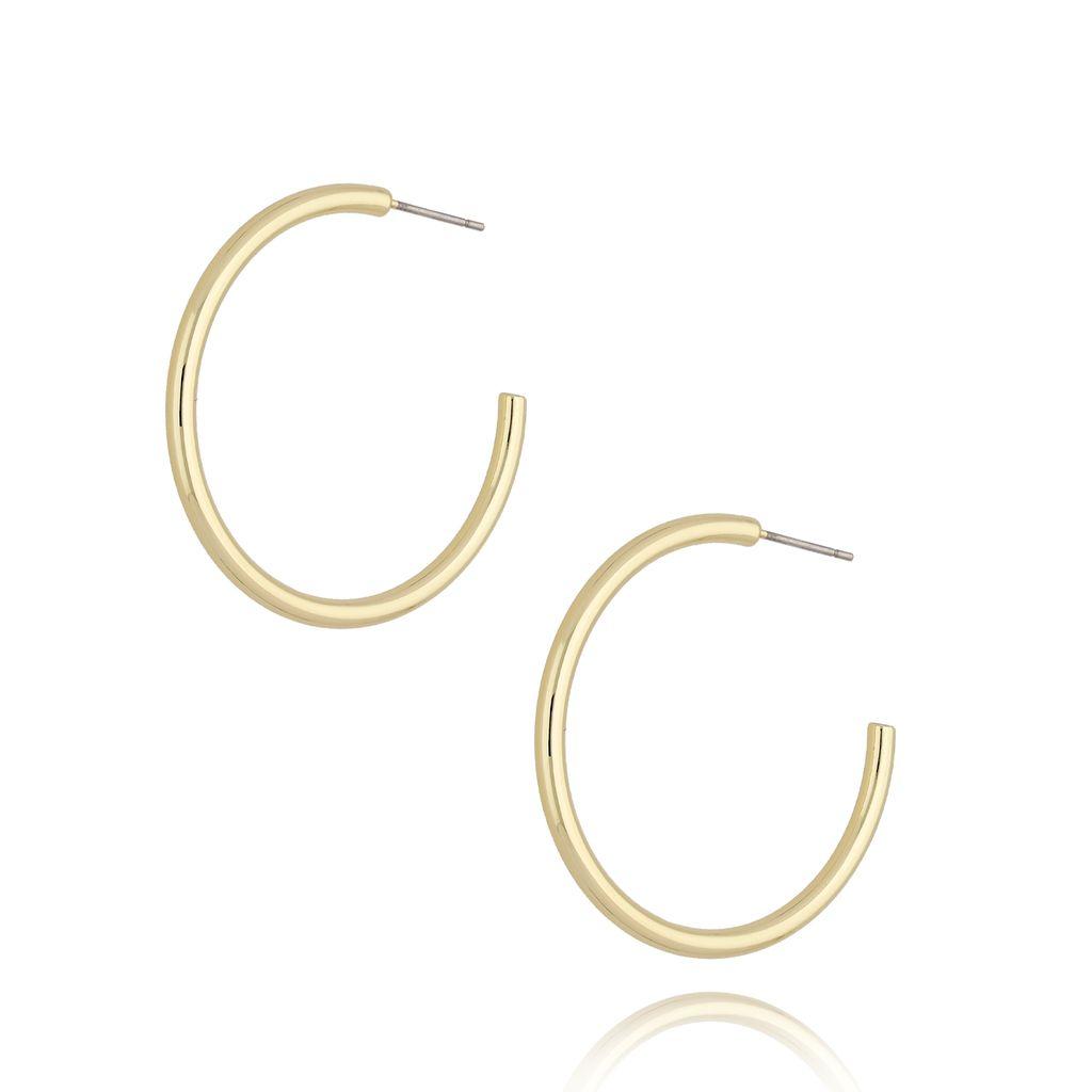 Kolczyki złote koła średnie KRG0646