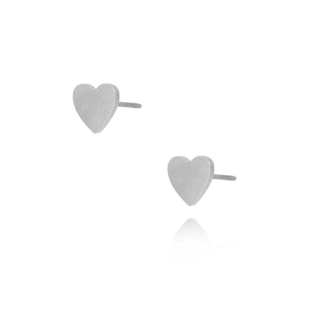 Kolczyki srebrne  serca ze stali szlachetnej KSA0106