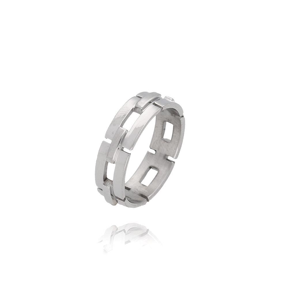 Pierścionek  srebrny ze stali szlachetnej PSA0022 Rozmiar 15