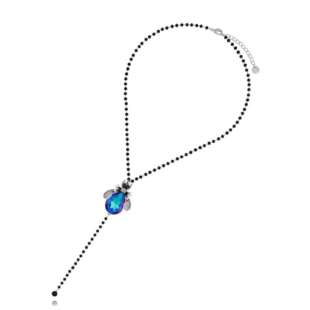 Naszyjnik niebieski żuk NMI0068