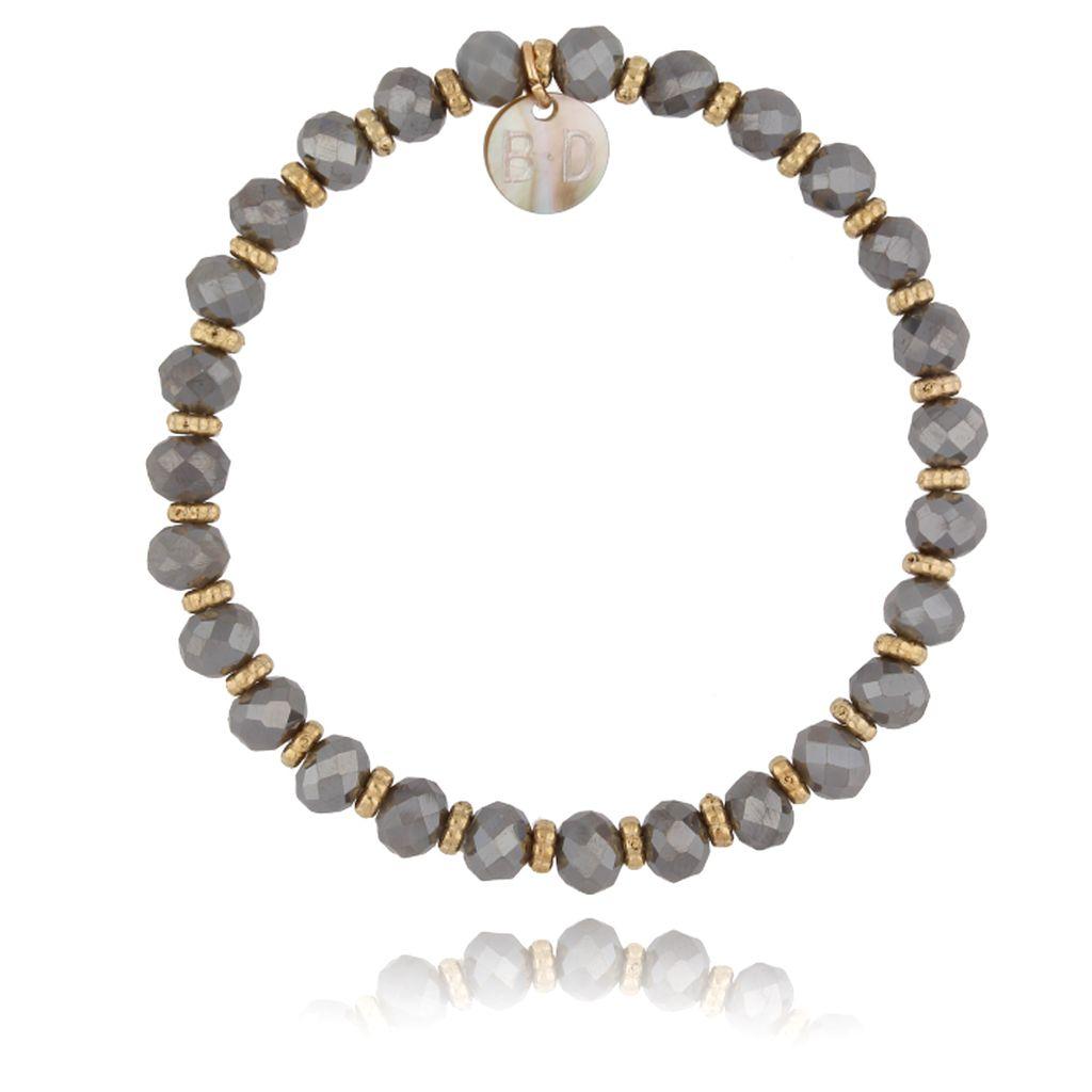 Bransoletka z szarymi kryształkami BBL0078