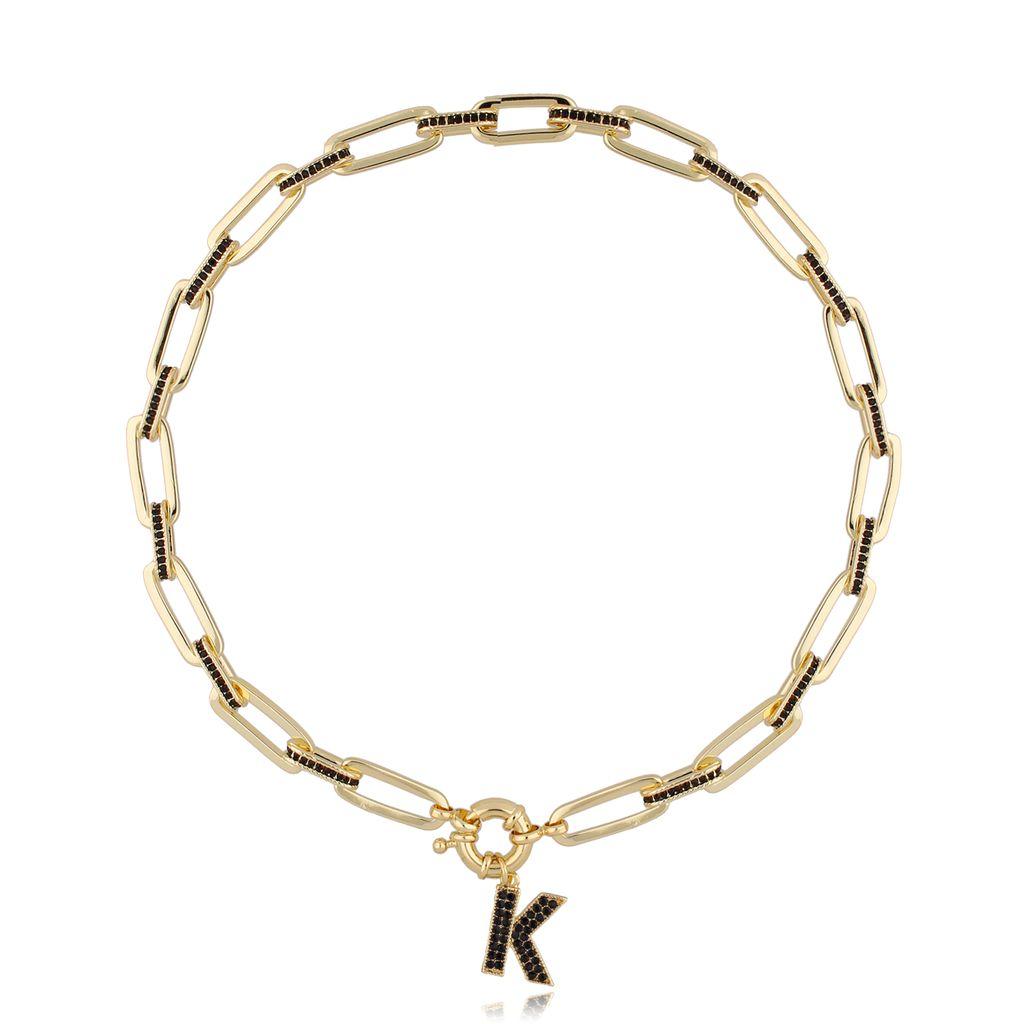 Naszyjnik złoty łańcuch z zawieszką  K NRG0282