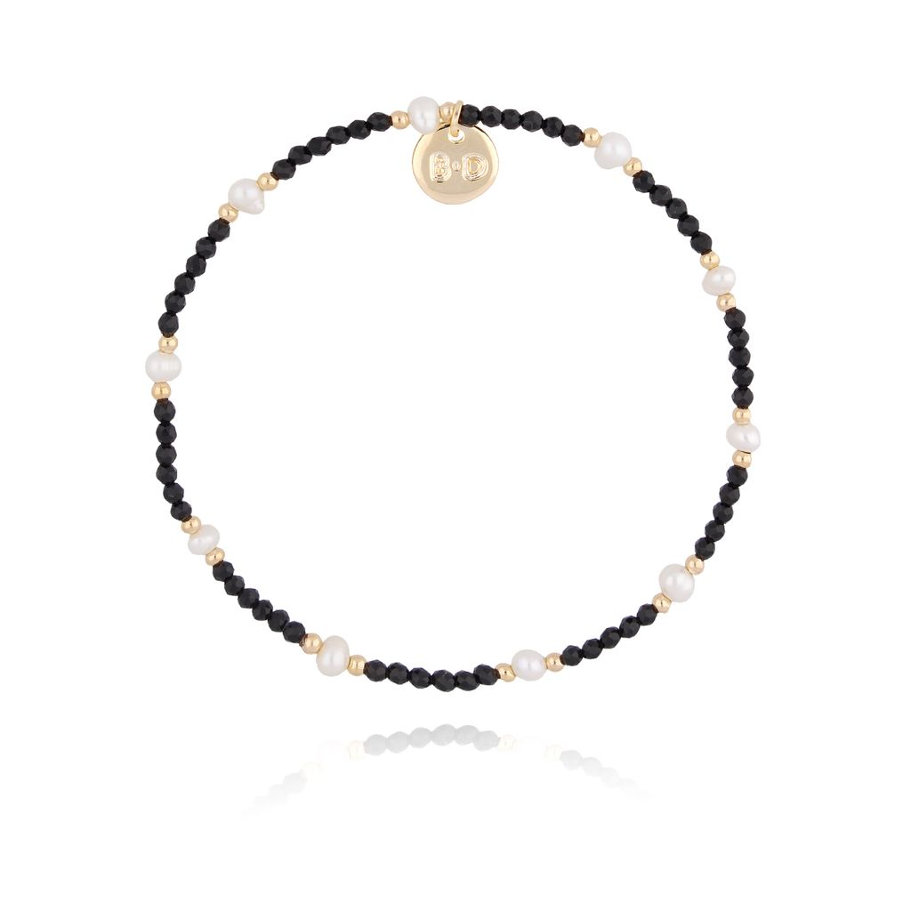 Bransoletka z onyksem i perłami BTW0203