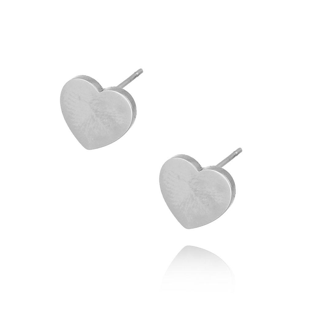 Kolczyki srebrne serca ze stali szlachetnej KSA0087
