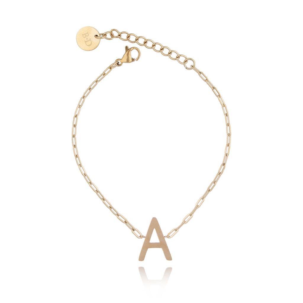 Bransoletka złota z literką A BAT0099