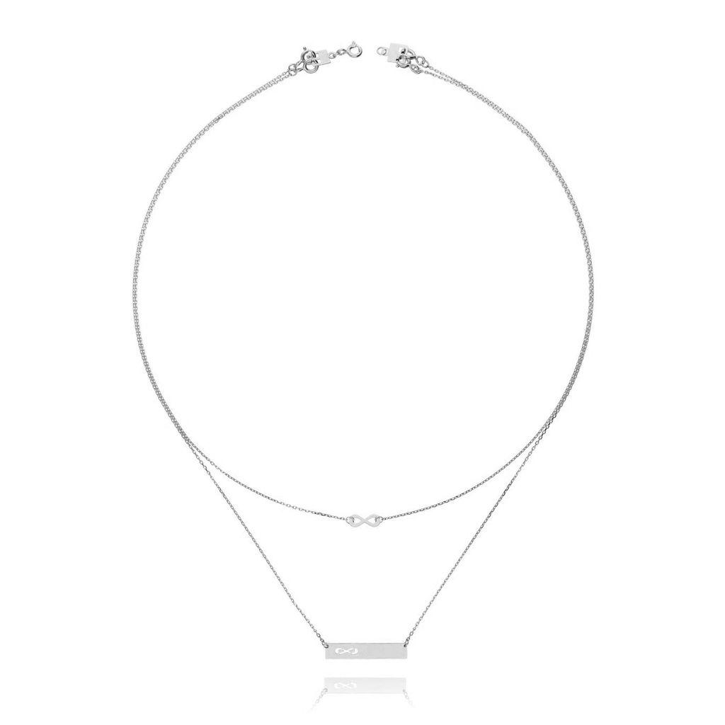 Naszyjnik srebrny z nieskończonością NSE0035