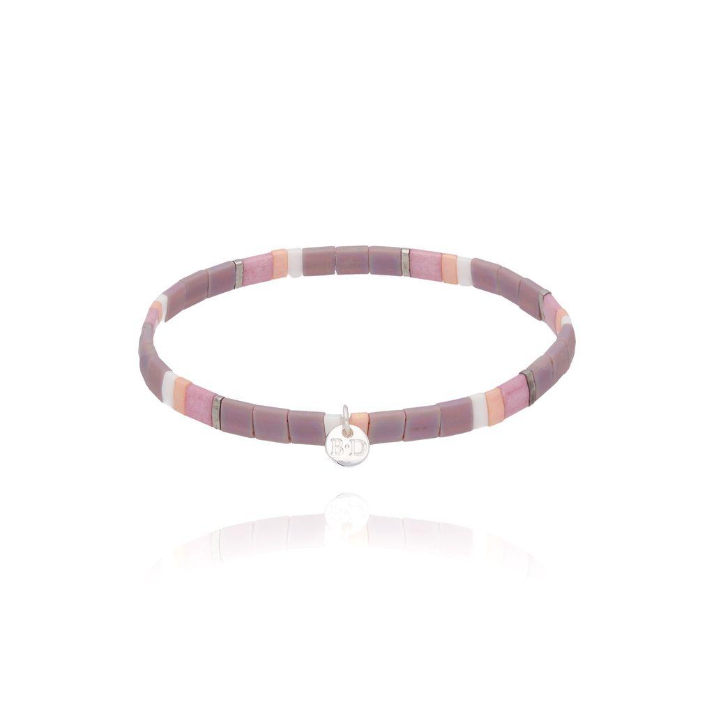 Bransoletka elastyczna fioletowa BLB0107