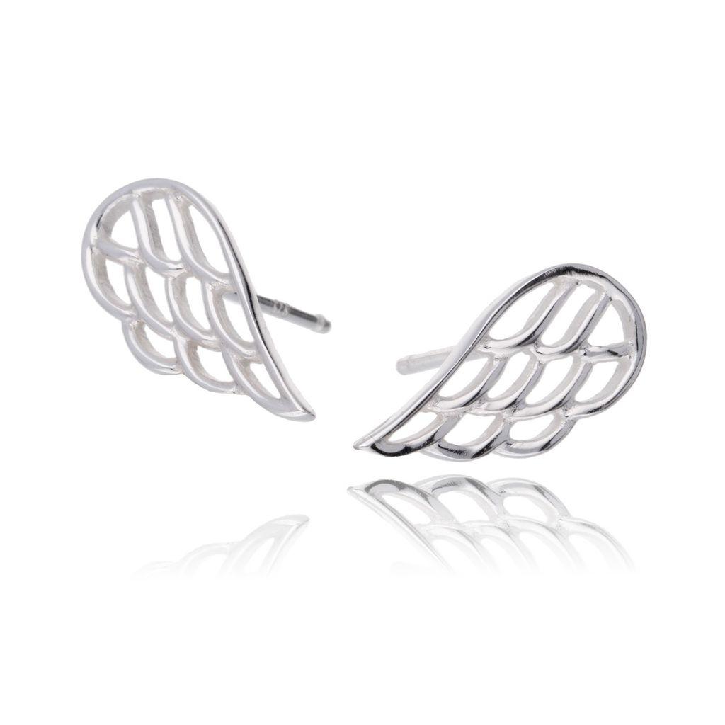 Kolczyki srebrne skrzydła KFA0001