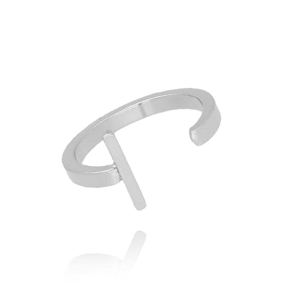 Pierścionek srebrny literka I PAT0011