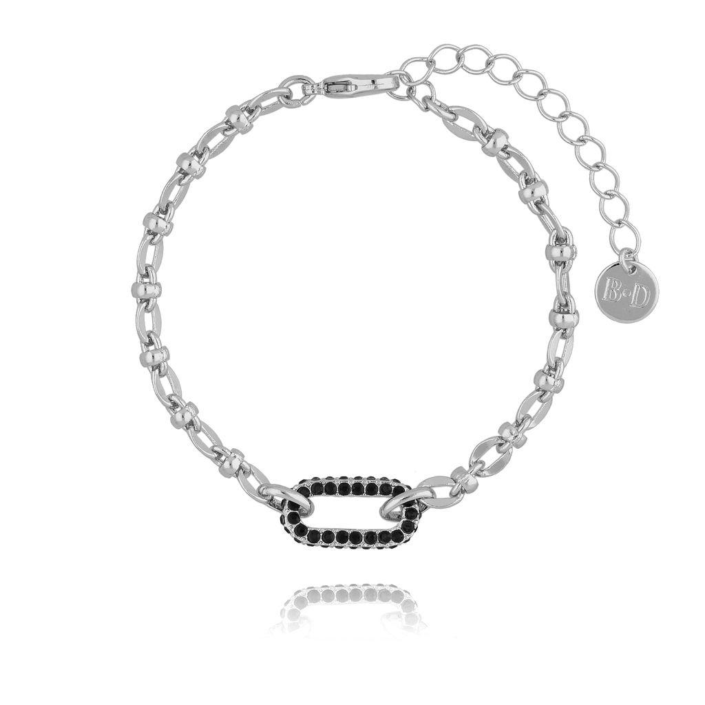 Bransoletka srebrna z ozdobnym elementem BRG0137