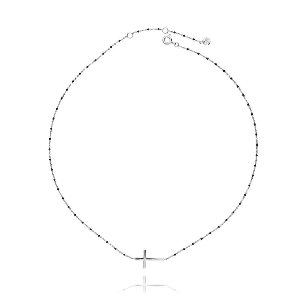 Naszyjnik srebrny z krzyżykiem NFA0010