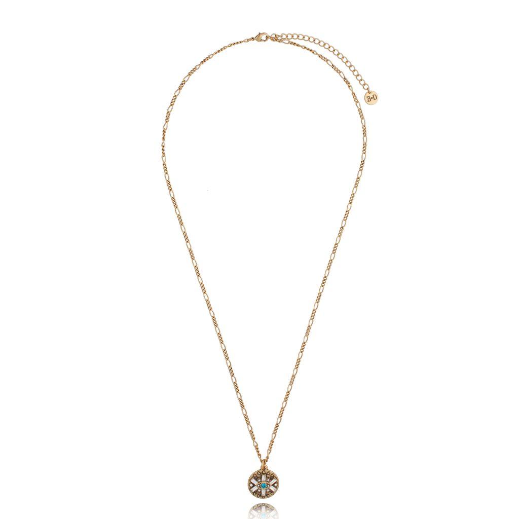 Naszyjnik z wisiorkiem antyczne złoto NRG0312
