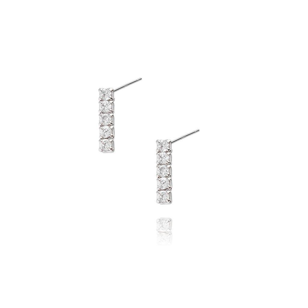 Kolczyki srebrne z cyrkoniami KRG0302