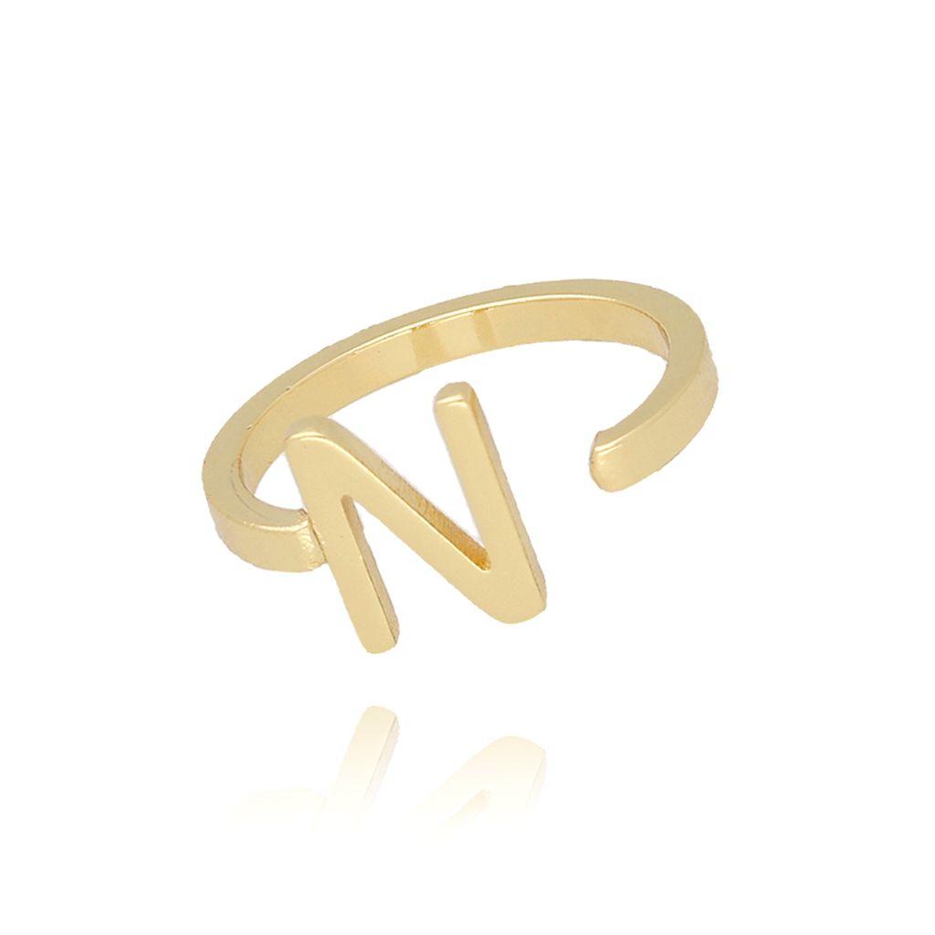 Pierścionek złoty literka N PAT0018