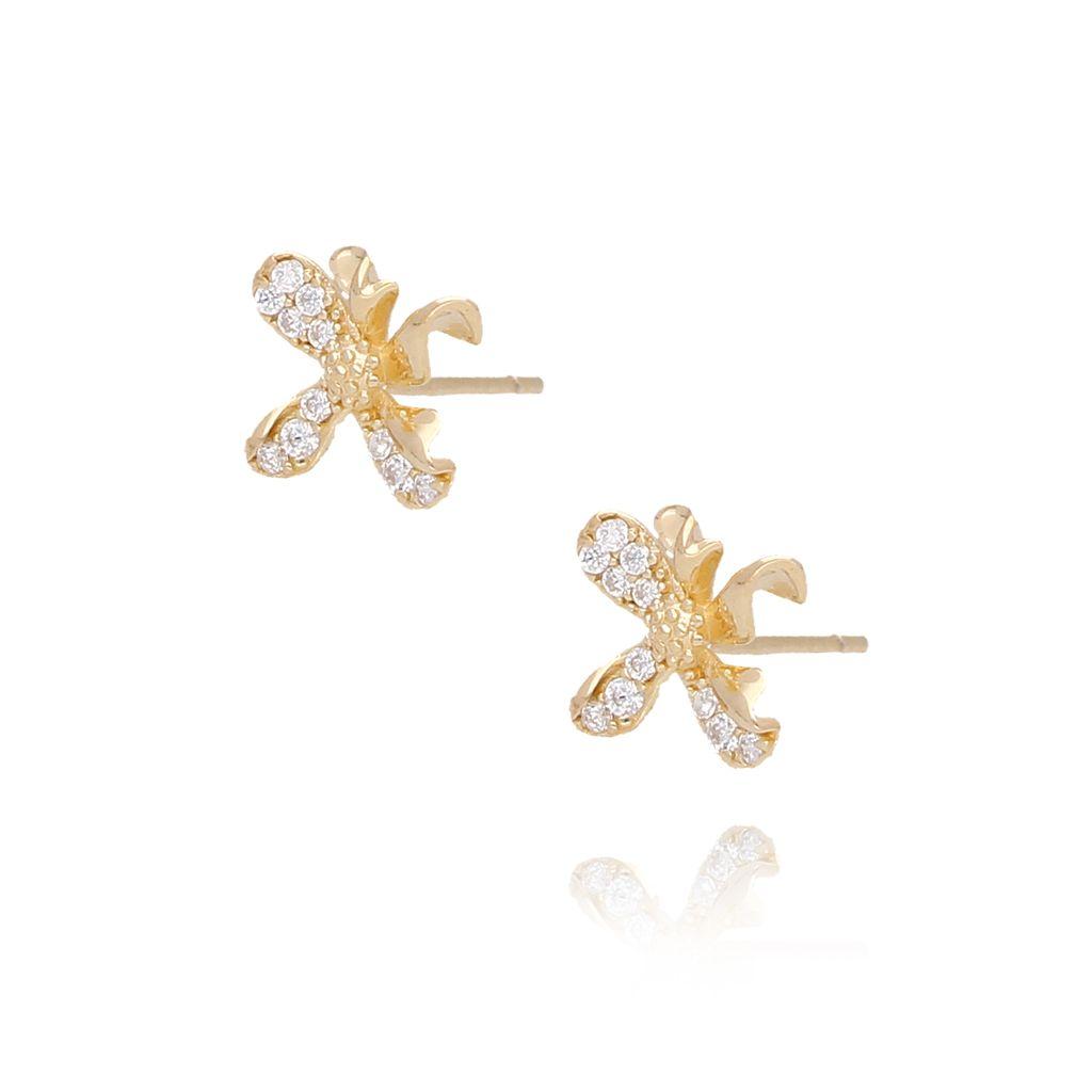 Kolczyki pozłacane kwiatuszki KGM0085