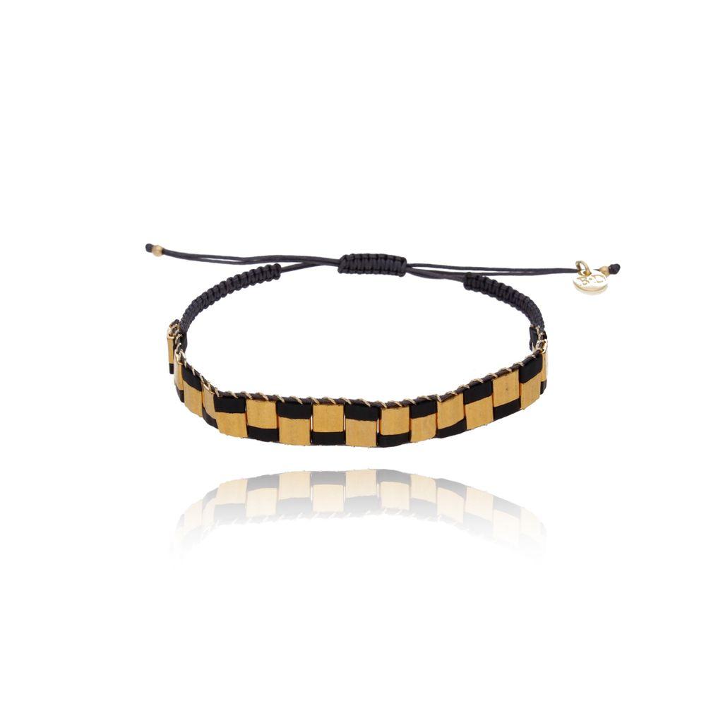 Bransoletka czarno złota Lucky Bay BLB0017