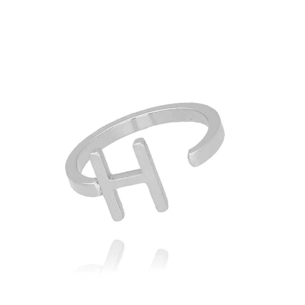 Pierścionek srebrny literka H PAT0026