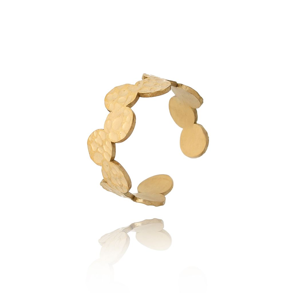 Pierścionek złoty ze stali szlachetnej PSA0154 Rozmiar 15