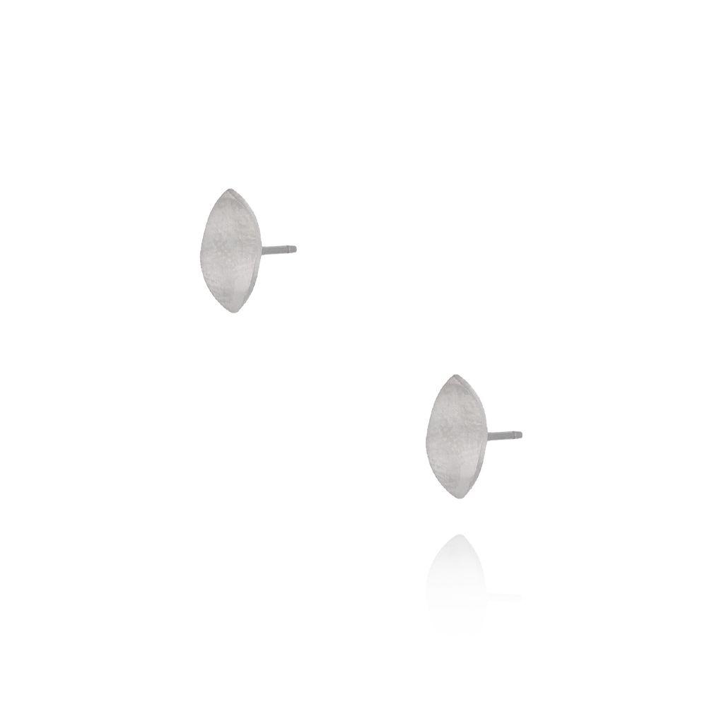 Kolczyki srebrne listki ze stali szlachetnej KSA0055