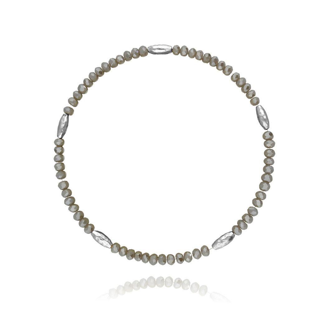 Bransoletka z kryształków - patynowy BBA0019