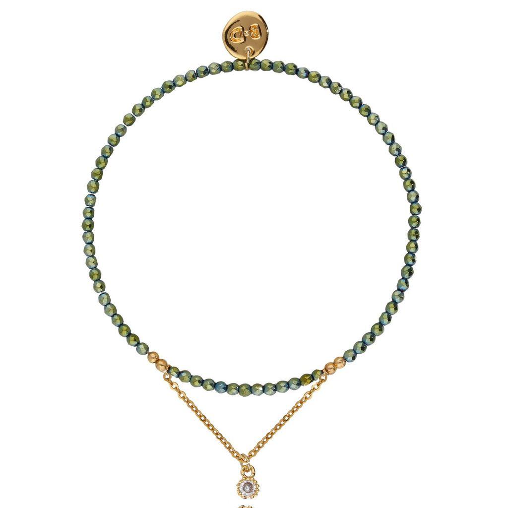Bransoletka z zielonym hematytem BTW0127