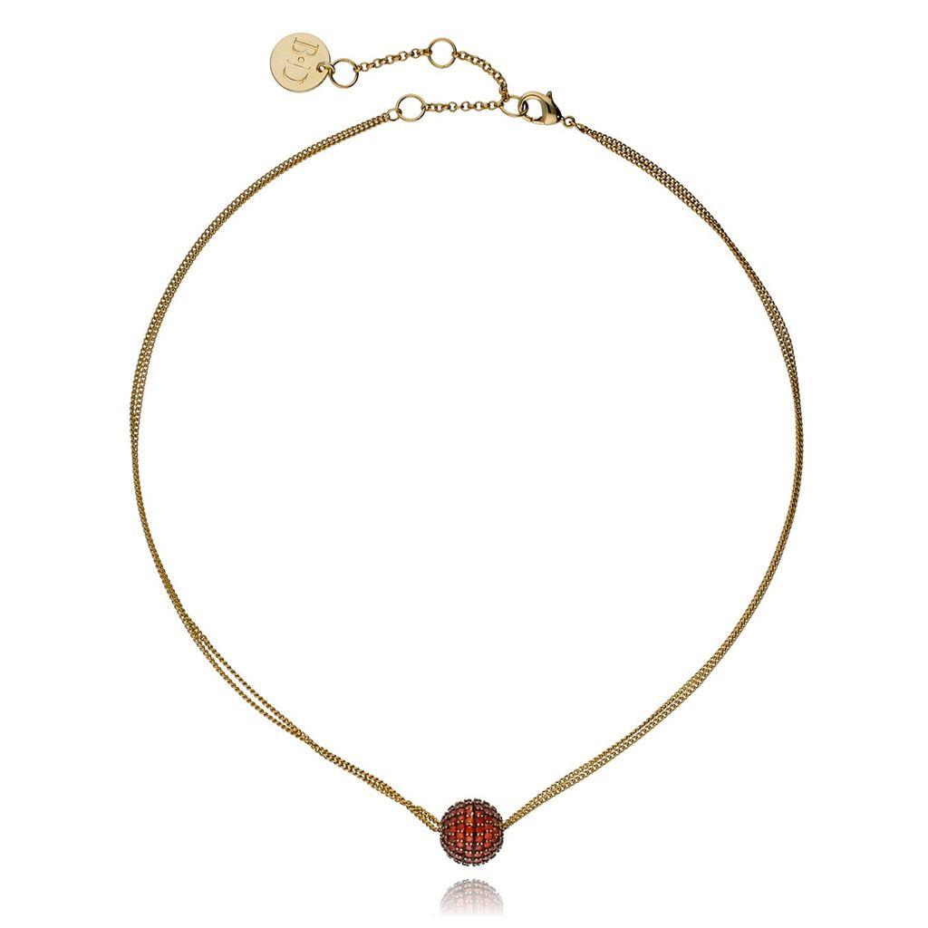 Naszyjnik złoty z czerwonymi cyrkoniami NWO0002