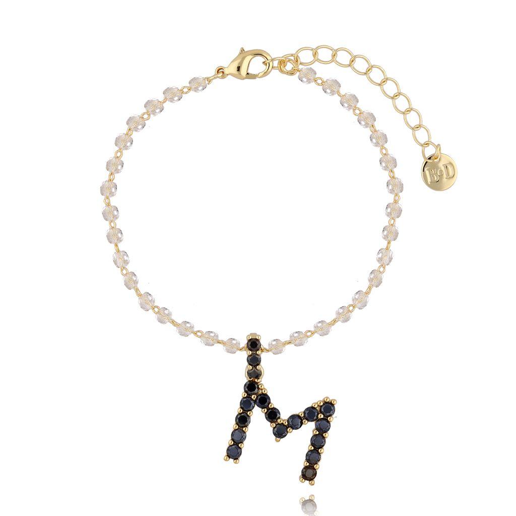 Bransoletka z zawieszką literka M BRG0153