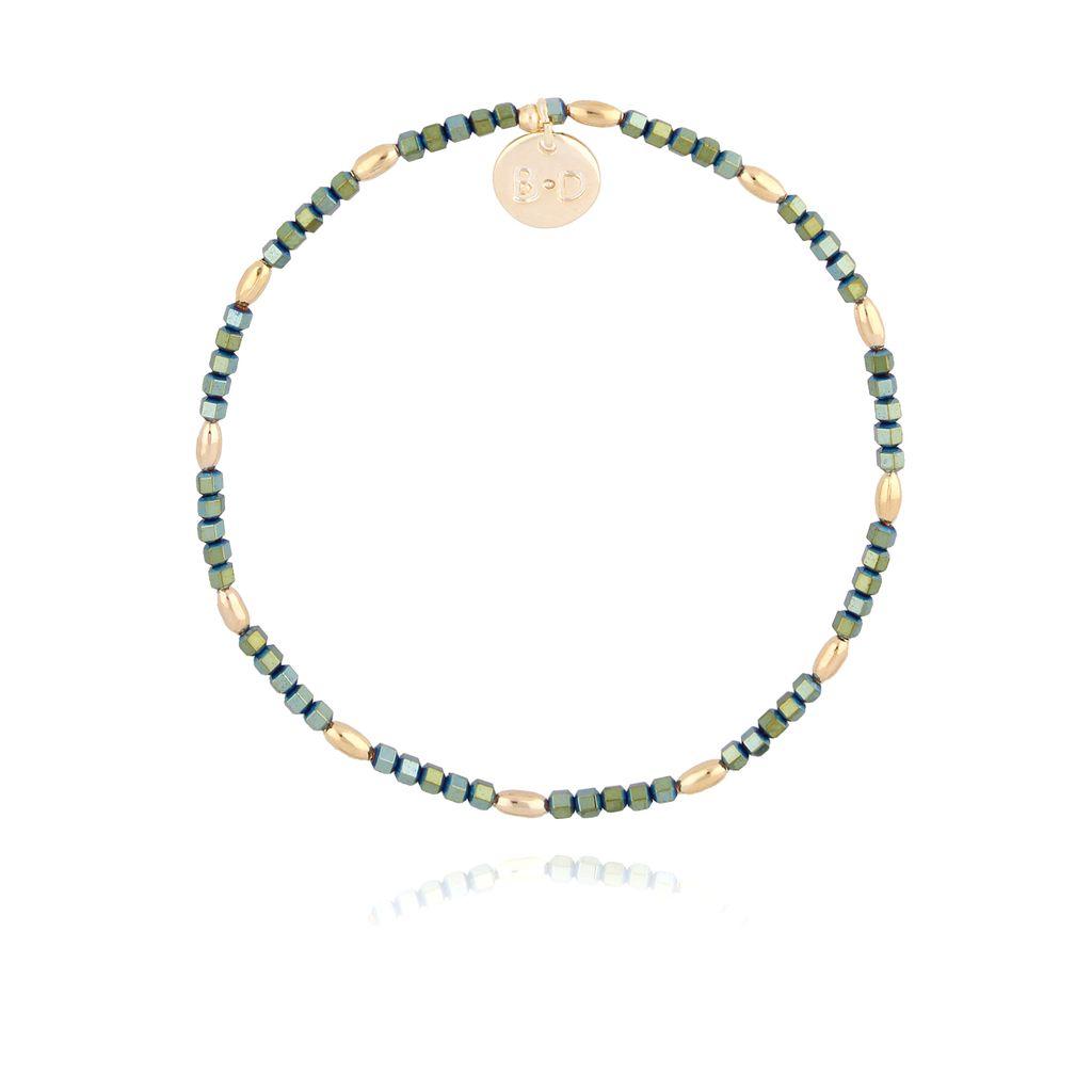 Bransoletka z zielonym hematytem BTW0149