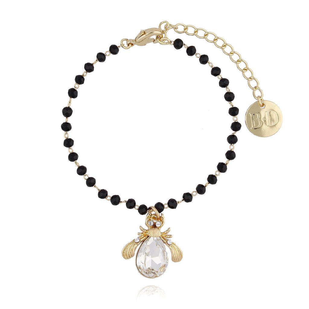 Bransoletka z kryształowy żuk z kryształkami BMI0029