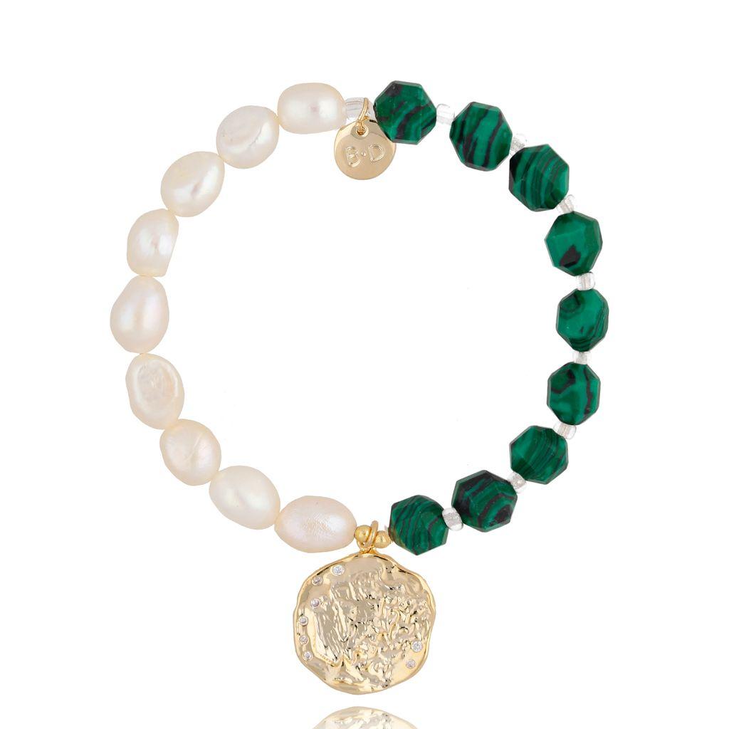 Bransoletka z perłami i kamieniami naturalnymi BPA0032