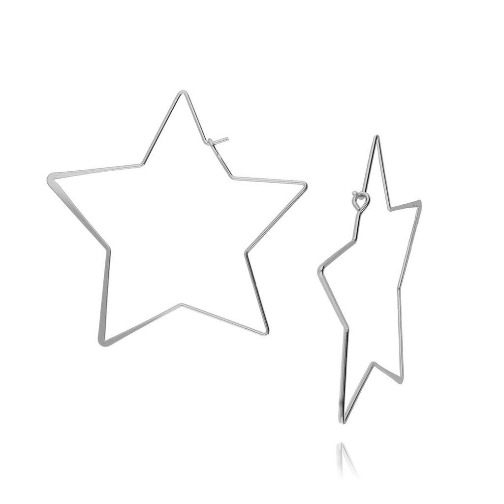 Kolczyki srebrne gwiazdy KRG0456