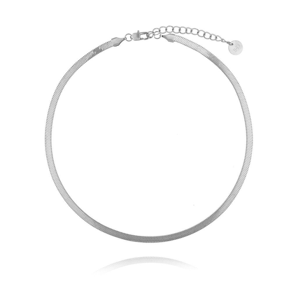 Naszyjnik srebrna żmijka stali szlachetnej NSA0070 38 cm