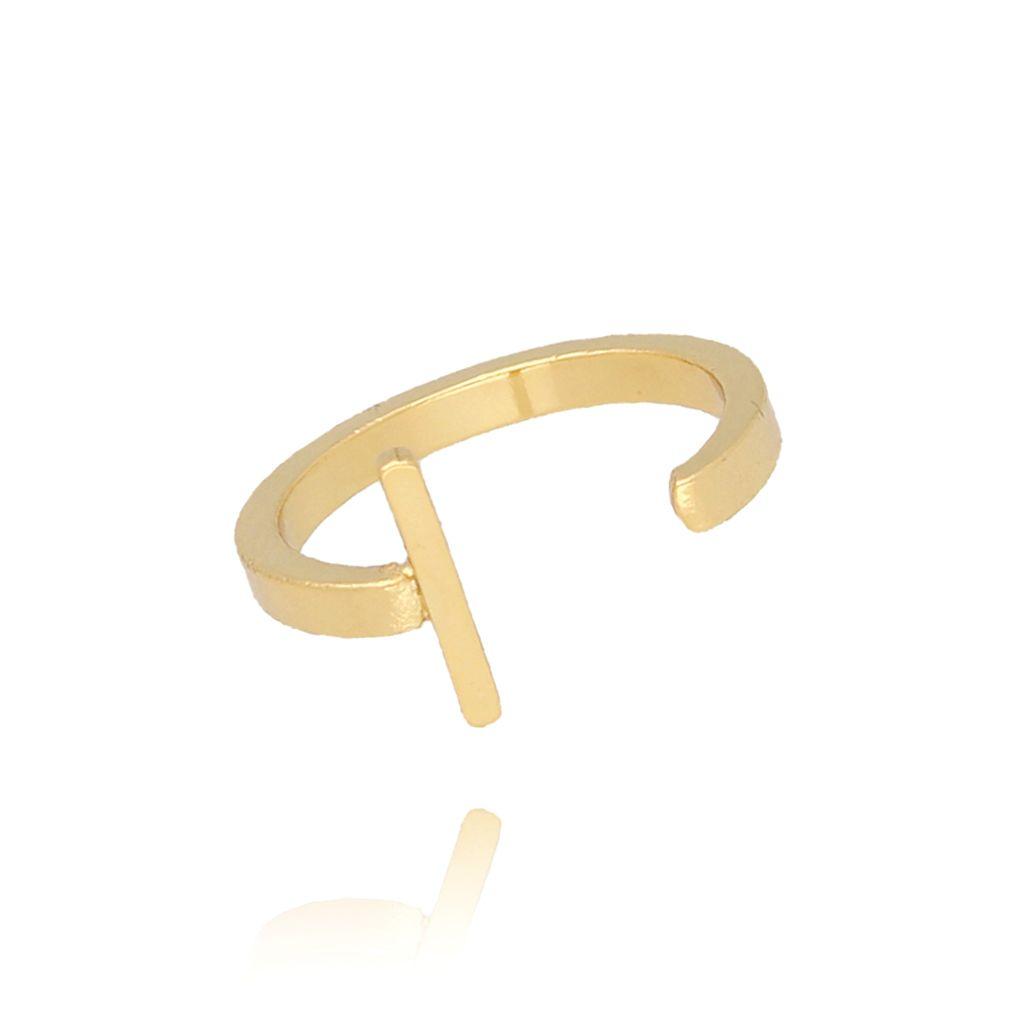 Pierścionek złoty literka I PAT0012
